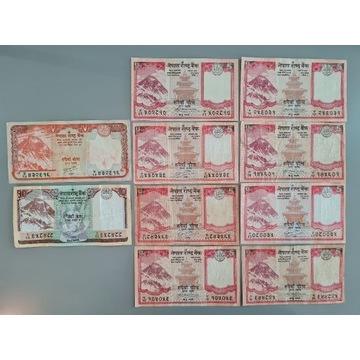 Nepal - 5/10/20 Rupees (10 sztuk)