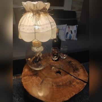 Stolik kawowy,plaster drewna ,żywica epoksydowa