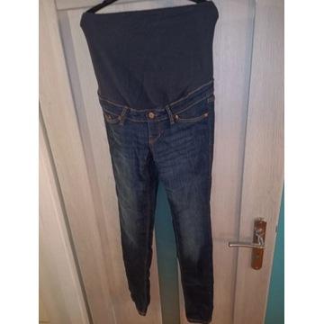 Rurki spodnie ciążowe r36S elastyczne wygodne jean