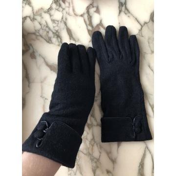 Rękawiczki klasyczne dłuższe z guzikami r. 8,5