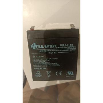 Akumulator żelowy B.B. HR 5.8-12 12V 5.3Ah do UPS