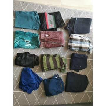 Paka ubrań męskich rozmiary L i XL