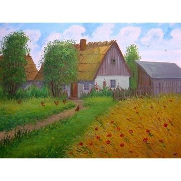 """M. Jamroz """" Stara chata """" 40 x 50 cm"""