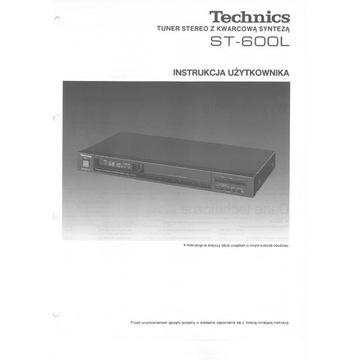 Instrukcja TECHNICS ST-600L po polsku