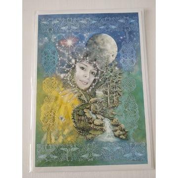 Pocztówka Moon Godess Corrina Rockley