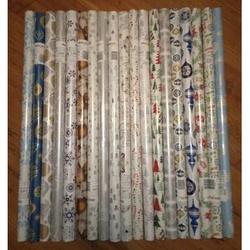Papier do pakowania prezentów świąteczny 10 rolek