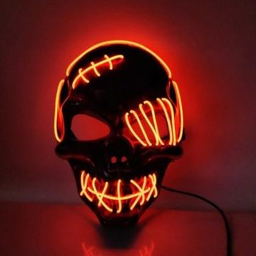 Maska Hallowen LED maska hallowen