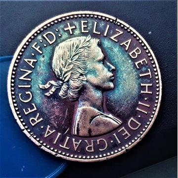HALF PENNY -1963 - ANGLIA.  Oryginalny  kolor coin