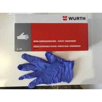 Rękawiczki Nitrylowe Wurth  XL wysoka jakość