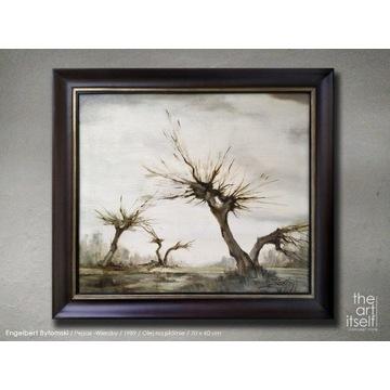 Engelbert Bytomski - Piękny stary obraz olejny