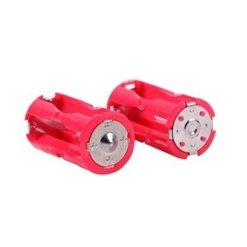 Adapter przejściówka 4 AAA - C ,4x R3 - R14 , 2szt