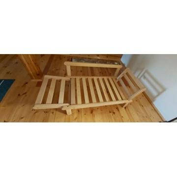Łóżko, sofa, stelaż rozkladany - drewno buk
