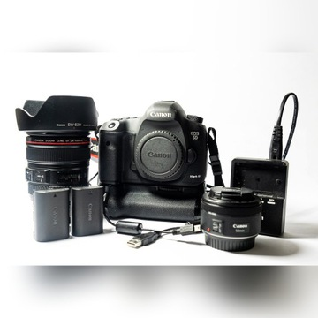Canon 5D Mk III | 24-105 f4 | 50 f1,8 |+ akcesoria