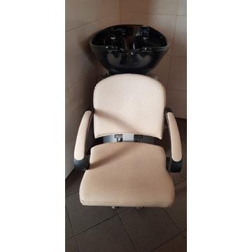 Myjnia fryzjerska + 2 fotele fryzjer. hydrauliczne