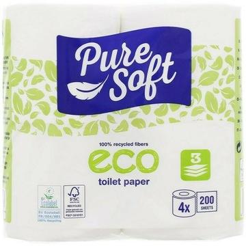 Ekologiczny papier toaletowy Pure Soft 4Rolki 200