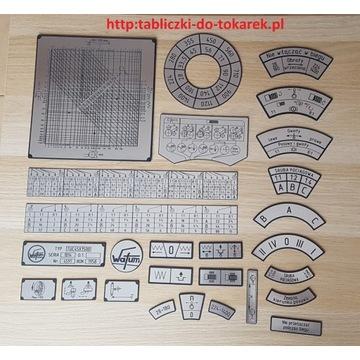 Tokarka TUC-45 Tabliczka Tabliczki Tabela Gwintów