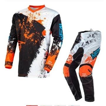 Strój motocross enduro spodnie bluzka rozmiar S