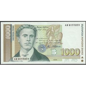 Bułgaria 1000 lewa 1994  Lewski - stan bankowy UNC
