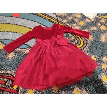 Sukienka Boże Narodzenie czerwona 12-18 miesiecy