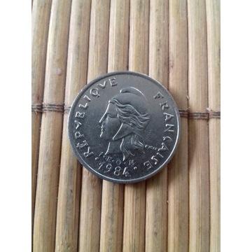 moneta 10 franków 1984 Polinezja Francuska