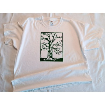 Nadruk brokat - nowa koszulka rozmiar XL