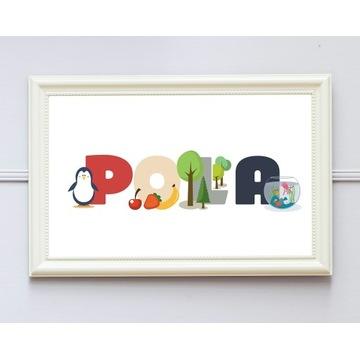 Obrazek do wydruku, imię dziecka