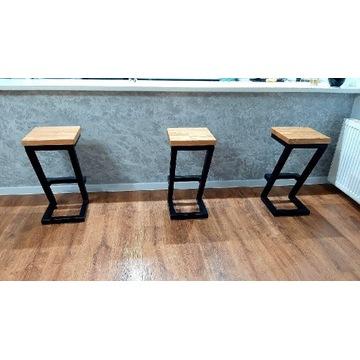 Hoker industrialny stołek barowy krzesło