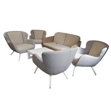 Zestaw ogrodowy (kanapa + 4 fotele)