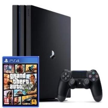 Sony playstation4 pro 1TB + GTA V + fifa 2020 NOWA
