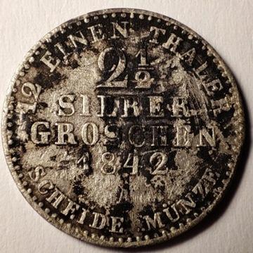 2 1/2 silber groschen 1842 A srebro Ag