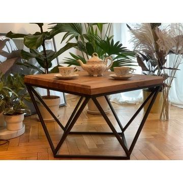 Loftowy stolik kawowy w stylu rustykalnym Prezent