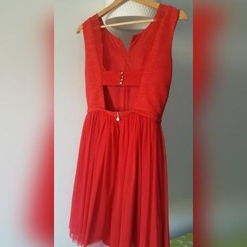 Czerwona sukienka Regard r.36