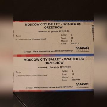 2 bilety Moscow city ballet- Dziadek do orzechów