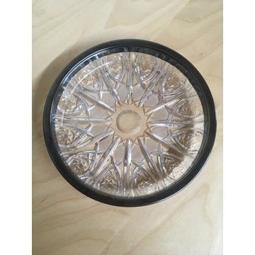 Patera HEFRA kryształ okuty w srebrze 16cm PRL