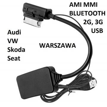 KABEL ADAPTER AMI MMI 2G 3G BT USB AUDI WARSZAWA