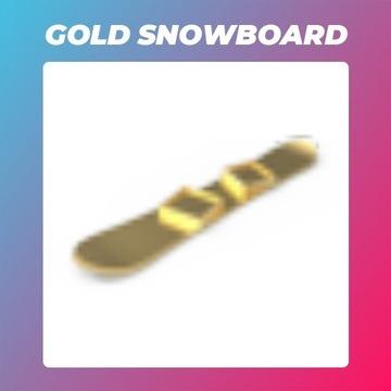 Roblox Adopt Me Gold Snowboard