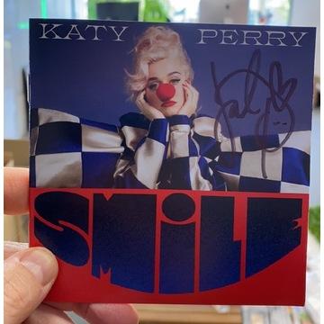 Katy Perry SMILE płyta oryginalny autograf! Certyf