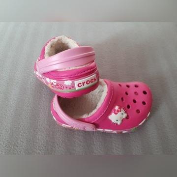 Klapki dziecięce crocs hello kitty