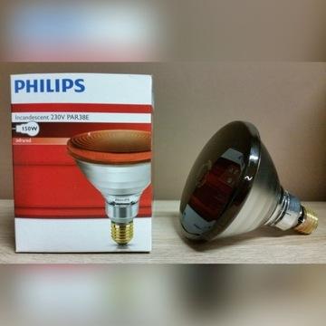Żarówki Philips PAR38E IR 150W 230V E27 RED