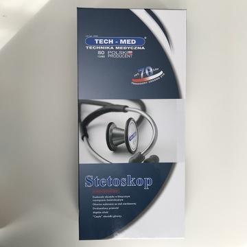 NOWY Stetoskop kardiologiczny TechMed granatowy