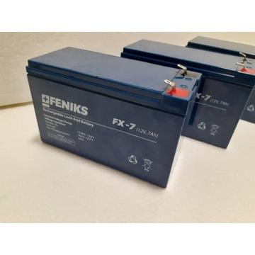 Akumulator bezobsługowy żelowy 12V 7Ah alarm ups