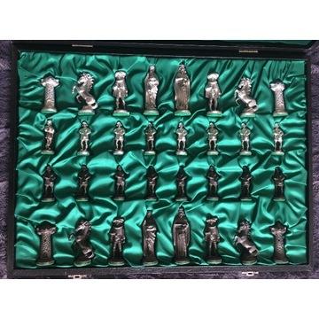 Figurki szachowe Mullingar Pewter Medieval Irish