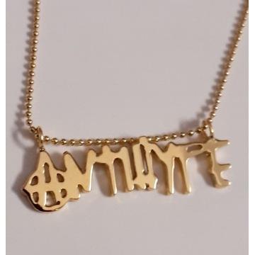Nowy srebrny925 złocony łańcuszek Antihype Sarius