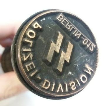 Stempel nazistowski z Polizei-Division SS - Berlin