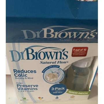 Zestaw 3 butelek dr browns 240ml butelka butelki