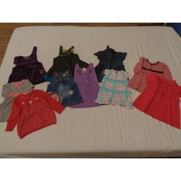 OKAZJA Ubranka duży zestaw dla dziewczynki 80-98