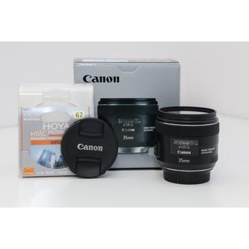 Canon 35mm f/2.0 IS USM zestaw, stan idealny!