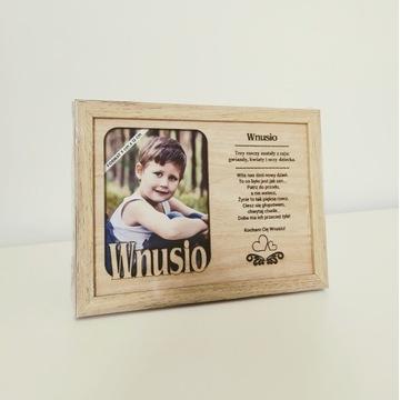 Ramka na zdjęcia z sentencją: Wnusia / Wnusio