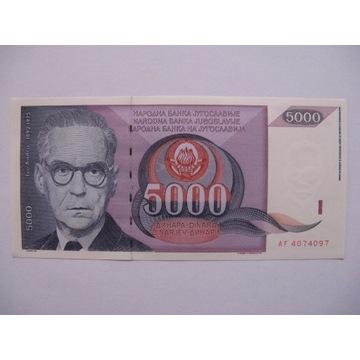 Jugosławia - 5000 Dinara - 1991 - P111 - St.1