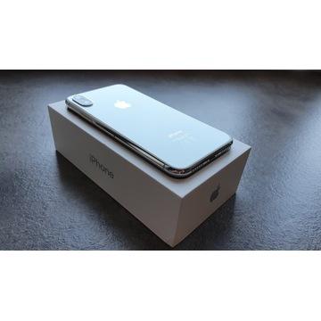 APPLE IPHONE X 256GB SILVER IDEALNY BOGATY ZESTAW